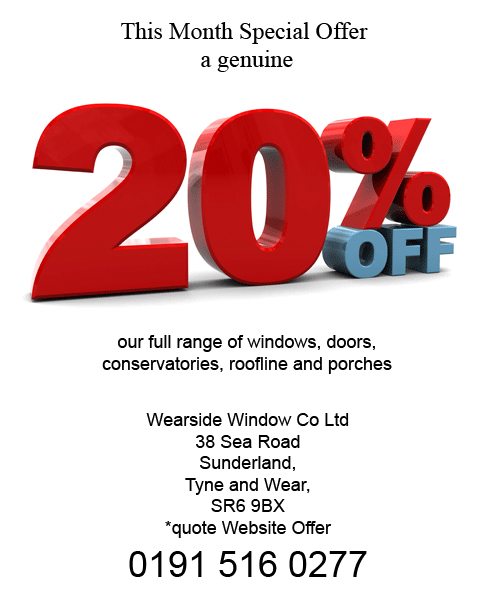 Special offer on double glazing north east for Double glazing offers